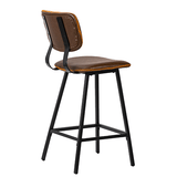 Danica bar counter stool brown leather