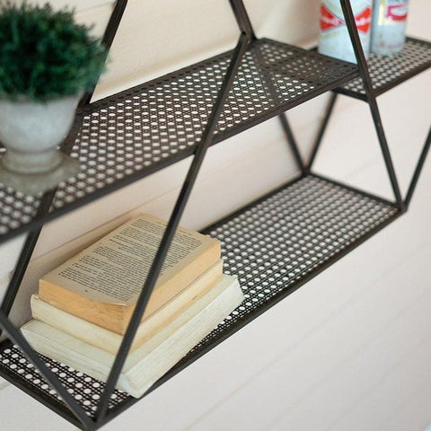 Soleil Shelf black metal frame modern shelf