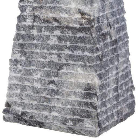 Stone Pyramid grey cone decor