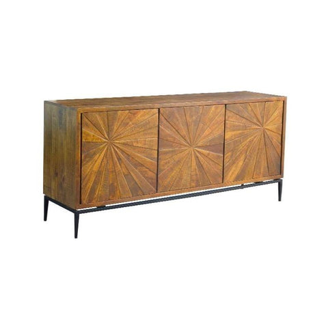 Theo Sideboard made of Reclaimed Mango Wood and Iron comes in brown