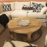 Tillock Coffee Table Chesnut Brown Circular