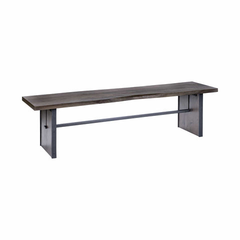 Tyler Wooden Bench mango dining brown
