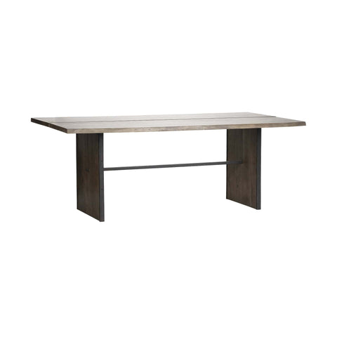 Tyler Wooden Dining Table mango brown iron