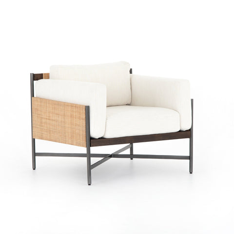 Visby Chair, Polyester, Iron, Mahogony Wood, Rattan, Main View