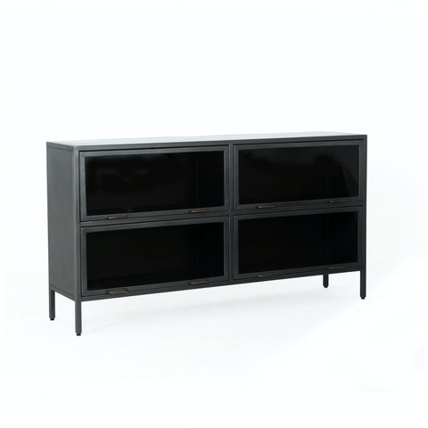 Vitra Sideboard metal iron gunmetal glass
