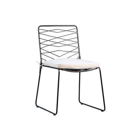 Wick Dining Chair Upholstery Steel