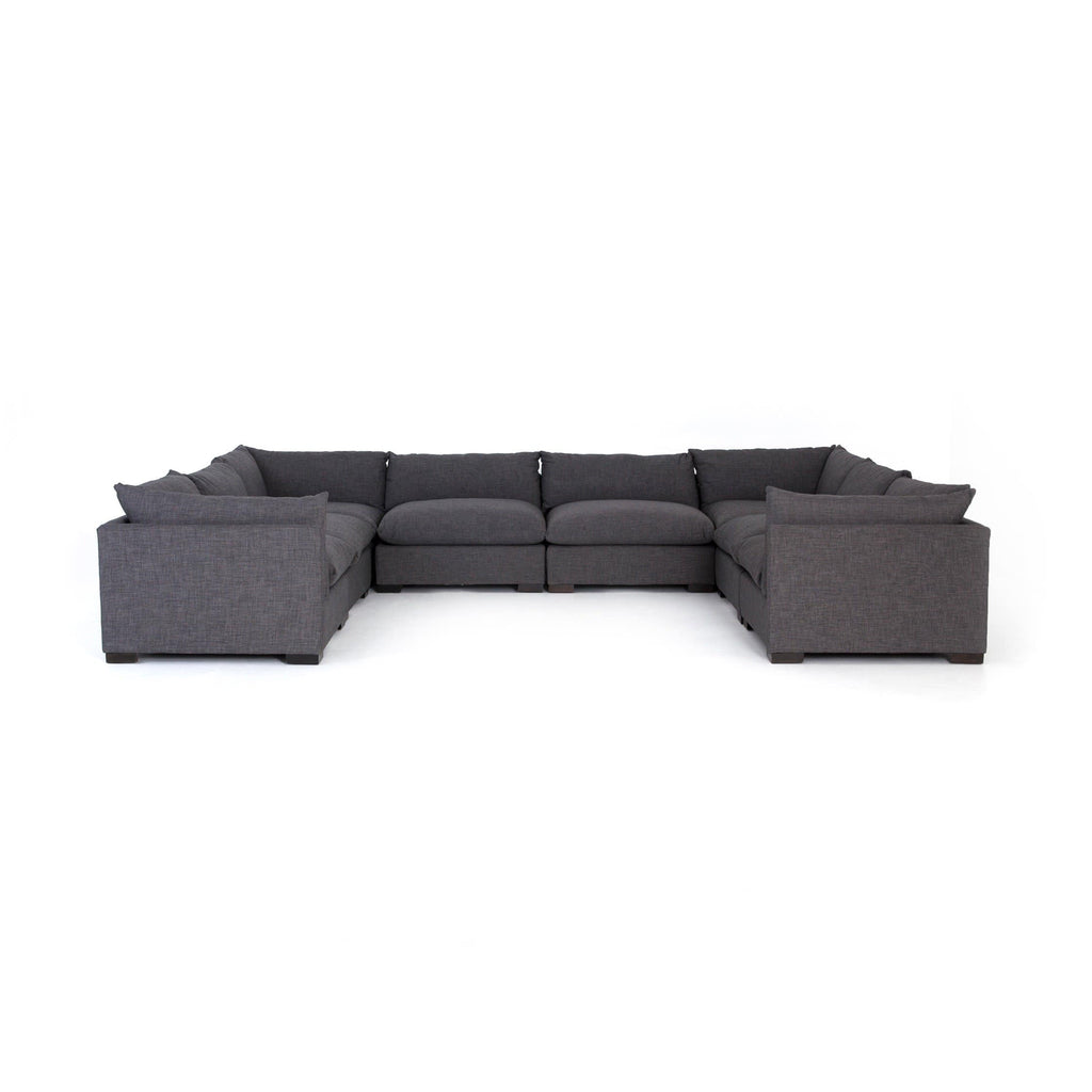 Wilcox 8-Piece Sectional Charcoal Frontview