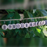 The Wine Charms grey silver numbers