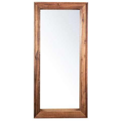 Zandra Floor Mirror light brown reclaimed acacia wood frame