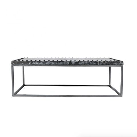 Zayn Coffee Table metal grey rustic