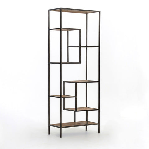 Albert small bookshelf pine iron