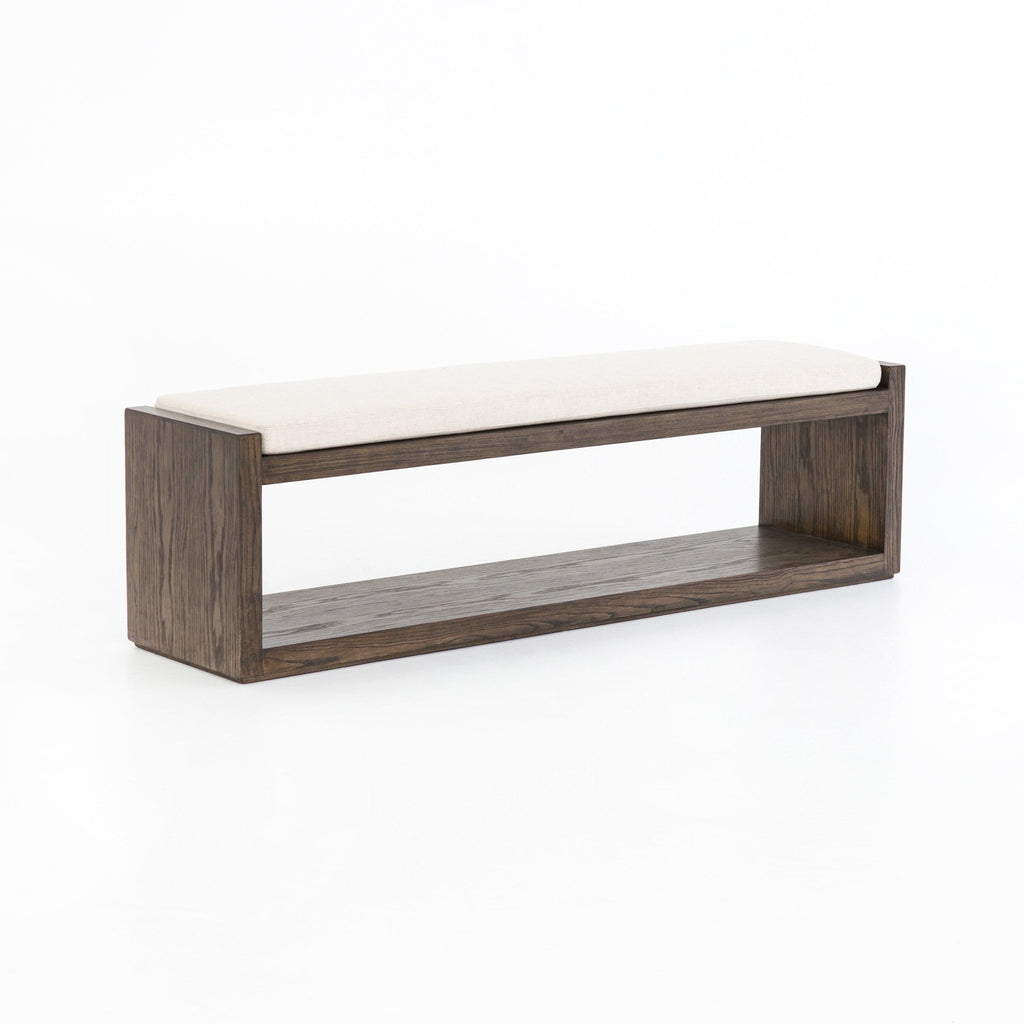 Alton nettlewood ivory performance fabric bench