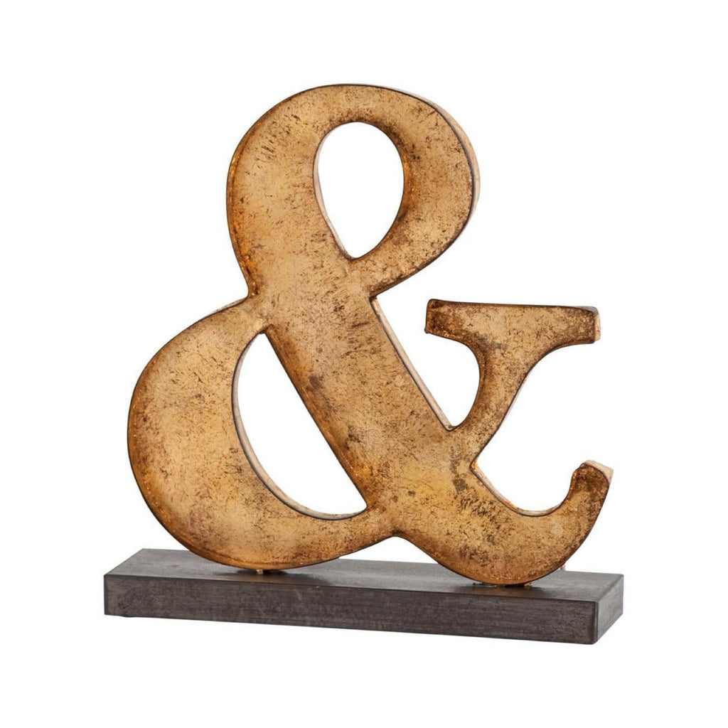 "Rustic ""&"" Gold Sign"