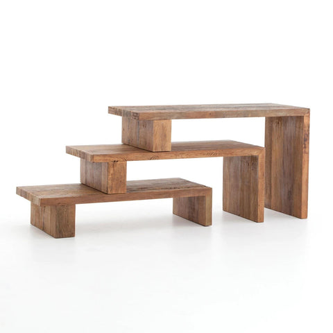 Andes nesting peroba wood console table