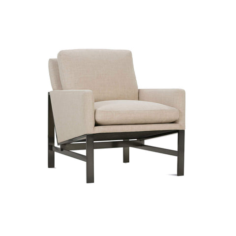 The Cupertino Chair, Performance Fabric, Iron, Beige Gold, Bronze, Main View