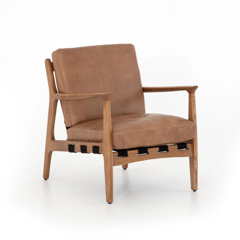 Anton copper top grain leather chair