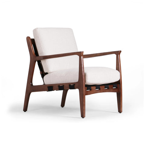 Anton white upholstery chair