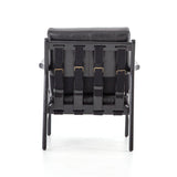 Anton black top grain leather chair