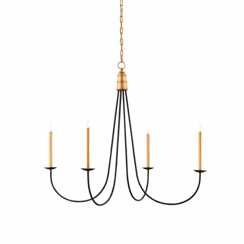Artilla black gold metal chandelier