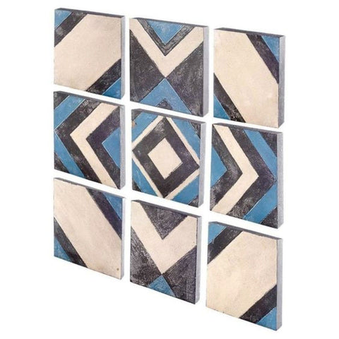 Nine Piece Aztec Wall Art