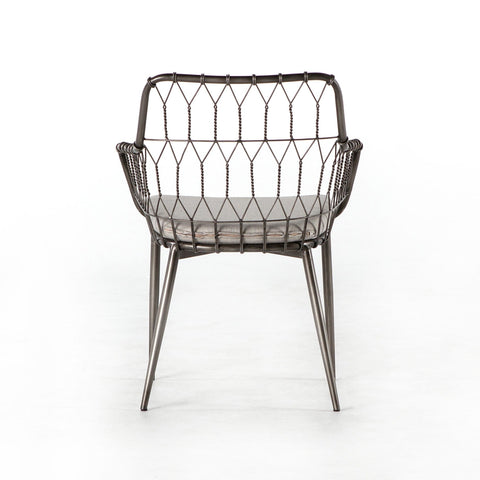 Balmain iron silver outdoor dining chair