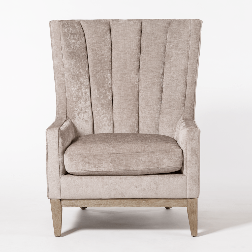 becky wing chair front