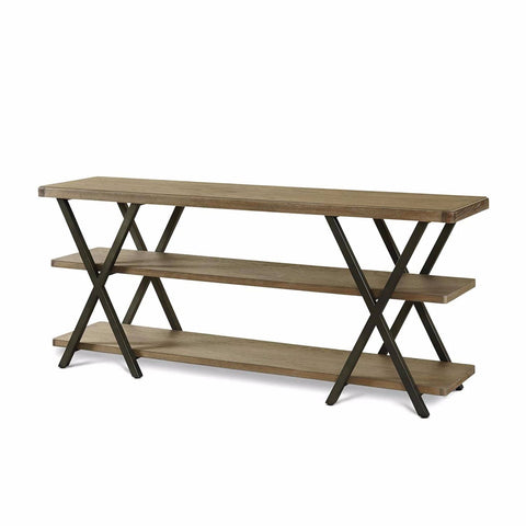 Bennett metal x wood console table