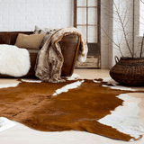 Bluffside brown ivory cow hide