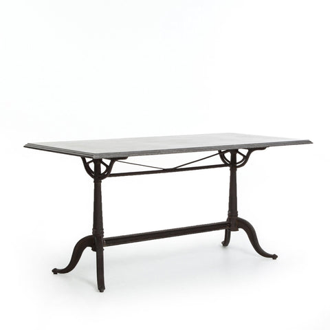 "Bordeaux Dining Table 64"" Angled Sideview"