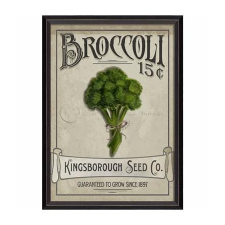 Farmers Market print wall art broccoli green