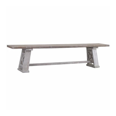 Brooke grey pine wood bench