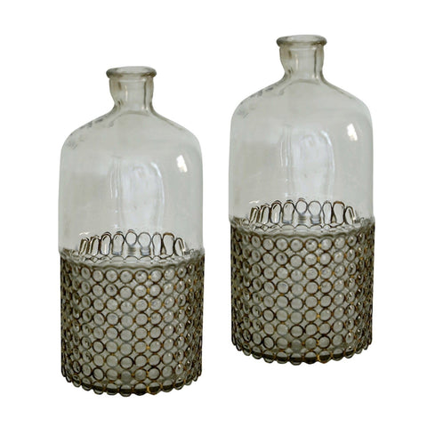 Rustic Bubble Vase Set of 2