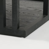 Burbank black oak square coffee table