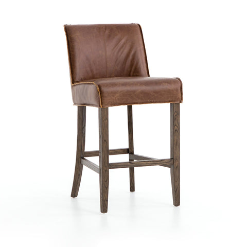 caldwell leather counter stool