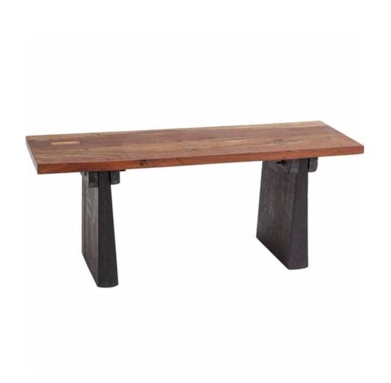Camilla Bench mango wood brown black