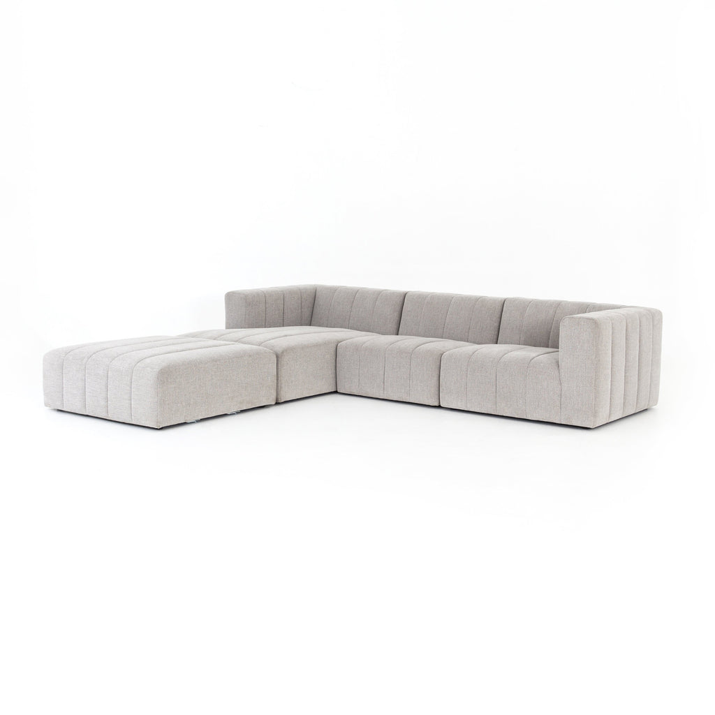 Carlita light grey channelled modular sectional