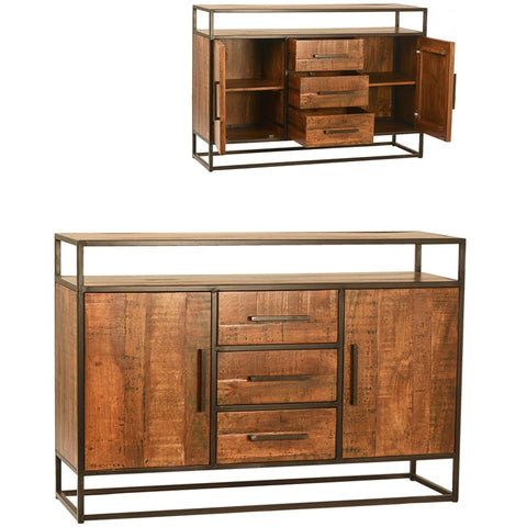 Chelsea mango wood iron sideboard media dresser