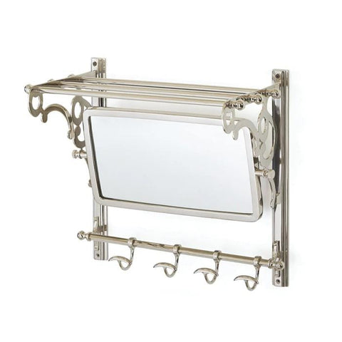 Clarity nickel mirror shelf hooks