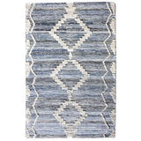 Clayton blue white wool rug