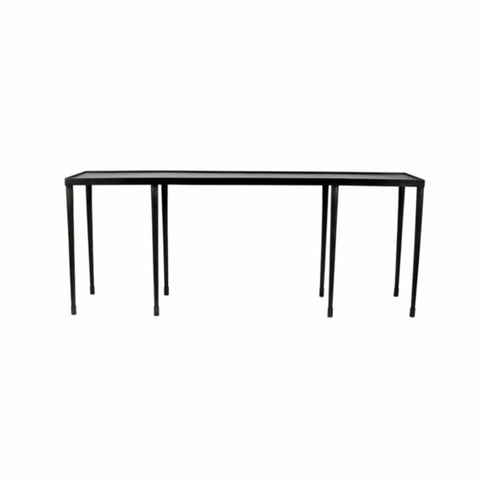Belham 8 leg black iron console table