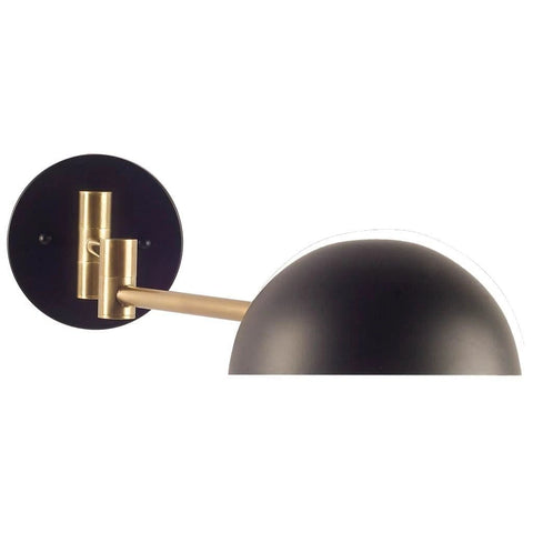 Cosmo black brass wall sconce