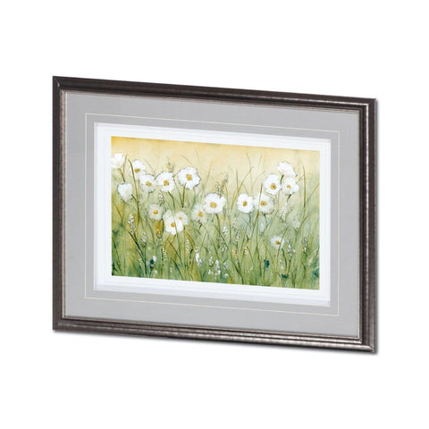 Daisy Artwork flower field grass metal frame