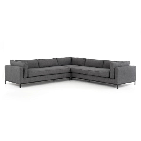 darcy sectional large corner grey
