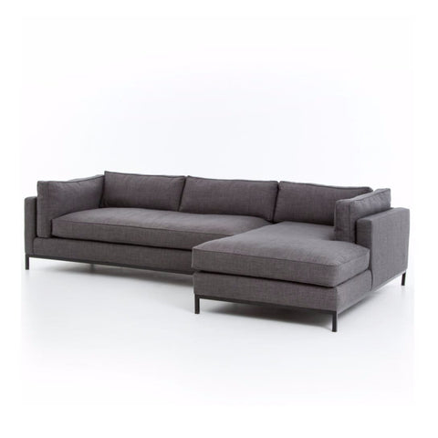 darcy right chaise charcoal