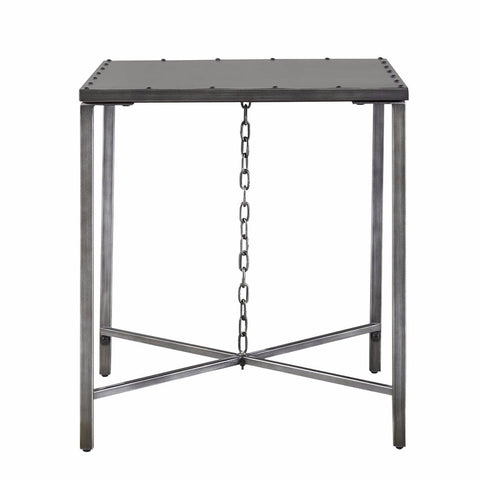Delray metal chain end table