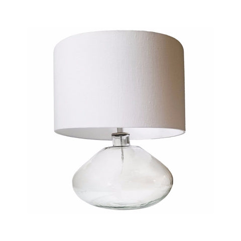 Dolan white glass table lamp