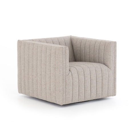 Ellen gray channeling upholstery swivel chair