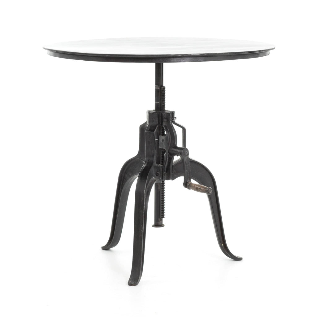 Fischer black iron crank end table