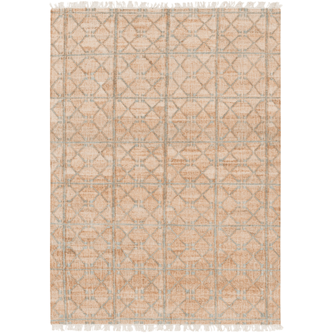 Fields light-green tan jute reversible rug