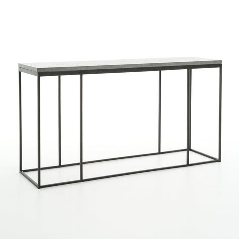 Flint bluestone black iron console table